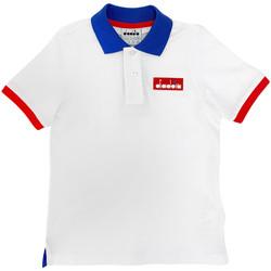 Odjeća Djeca Polo majice kratkih rukava Diadora 102175907 Bijela