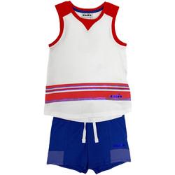 Odjeća Djeca Dječji kompleti Diadora 102175915 Bijela