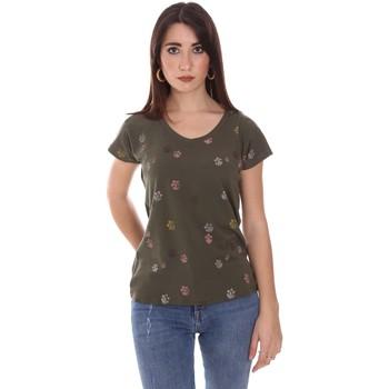 Odjeća Žene  Majice kratkih rukava Lumberjack CW60343 013EU Zelena