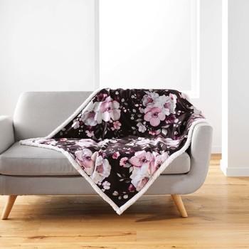 Dom Deke Douceur d intérieur VELVET FLOWER Smeđa