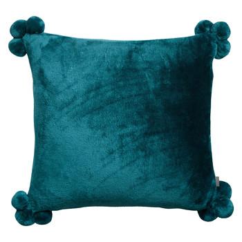 Dom Jastučnice Vivaraise TENDER POMPONS Blue / Paon