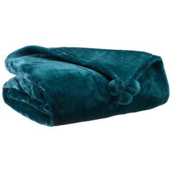 Dom Deke Vivaraise TENDER POMPONS Blue / Paon