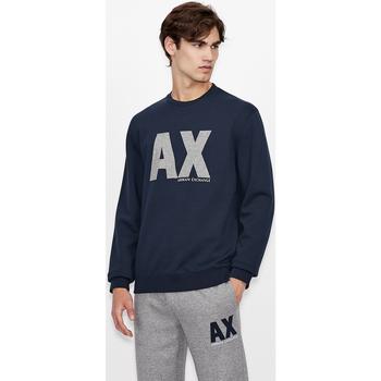 Odjeća Sportske majice EAX Sweatshirt col rond  6KZMFG-ZJ5UZ navy bleu marine