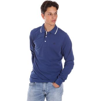 Odjeća Muškarci  Polo majice dugih rukava Key Up 2L711 0001 Plava