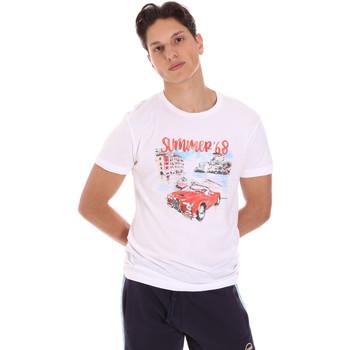 Odjeća Muškarci  Majice kratkih rukava Key Up 2S427 0001 Bijela
