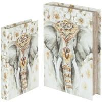 Dom Košare i kutije Signes Grimalt Kutije za knjige slonova SET 2U Multicolor