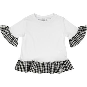 Odjeća Djevojčica Majice kratkih rukava Naturino 6001011 01 Bijela