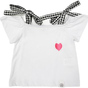 Odjeća Djevojčica Majice kratkih rukava Naturino 6001013 01 Bijela