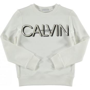 Odjeća Djevojčica Sportske majice Calvin Klein Jeans IG0IG01006 Bianco