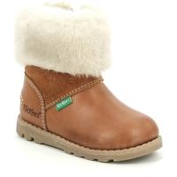 Obuća Djevojčica Čizme za snijeg Kickers Chaussures bébé  Nonofur camel brillant