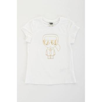 Odjeća Djevojčica Majice kratkih rukava Karl Lagerfeld Kids 2007069 Bianco