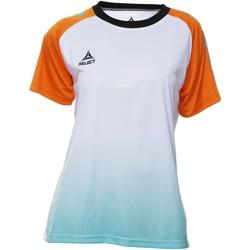 Odjeća Žene  Majice kratkih rukava Select T-shirt femme  Player Femina orange/blanc/vert