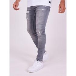 Odjeća Muškarci  Hlače Project X Paris Pantalon Jeans Slim effet usé gris foncé