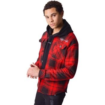 Odjeća Muškarci  Košulje dugih rukava Project X Paris Surchemise à carreaux Projet X Paris Bicolore rouge/noir