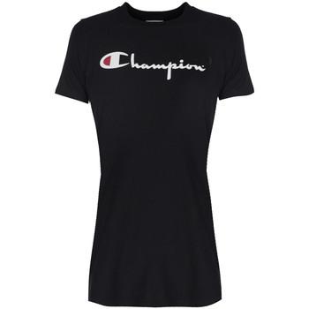 Odjeća Žene  Majice kratkih rukava Champion  Crna