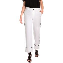 Odjeća Žene  Chino hlačei hlače mrkva kroja Denny Rose 811DD20006 Bijela