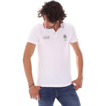 Odjeća Muškarci  Polo majice kratkih rukava Ea7 Emporio Armani 277017 6P907 Bijela