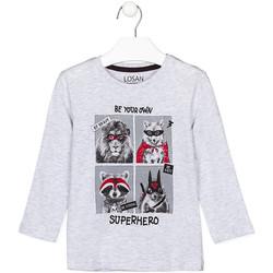Odjeća Djeca Majice dugih rukava Losan 125-1013AL Siva