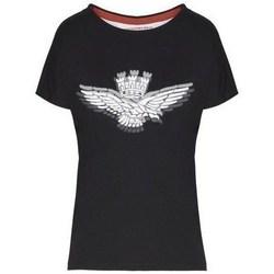 Odjeća Žene  Majice kratkih rukava Aeronautica Militare TS1881 Crna