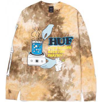 Odjeća Muškarci  Majice dugih rukava Huf T-shirt mess tiedye ls Smeđa