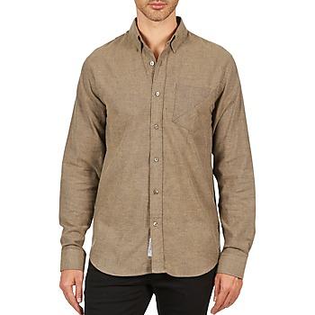 Odjeća Muškarci  Košulje dugih rukava Kulte CHEMISE CLAY 101799 BEIGE Bež