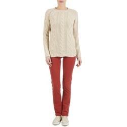 Odjeća Žene  Hlače s pet džepova Kulte PANTALON PLANCHER 101819 ROUGE Red