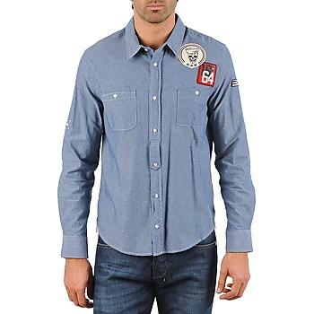 Odjeća Muškarci  Košulje dugih rukava Mr Marcel NEBRASKA Blue