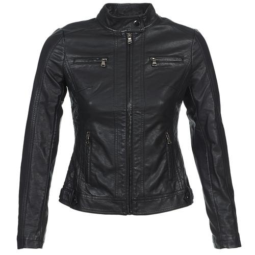 Odjeća Žene  Kožne i sintetičke jakne Moony Mood IDESCUNE Crna