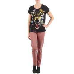 Odjeća Žene  Chino hlačei hlače mrkva kroja Eleven Paris PANDORE WOMEN Ružičasta