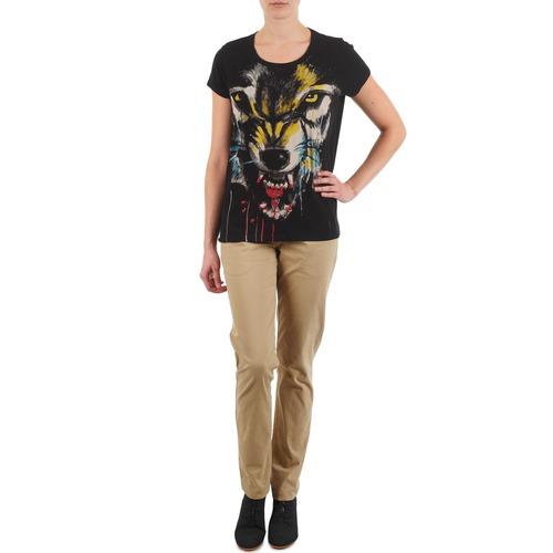 Odjeća Žene  Chino hlačei hlače mrkva kroja Eleven Paris PANDORE WOMEN Bež