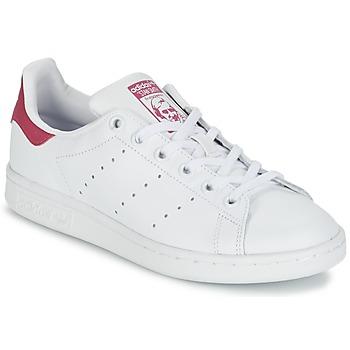 Obuća Djeca Niske tenisice adidas Originals STAN SMITH J Bijela / Ružičasta