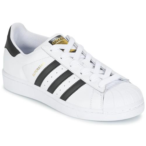 Obuća Djeca Niske tenisice adidas Originals SUPERSTAR J Bijela / Crna