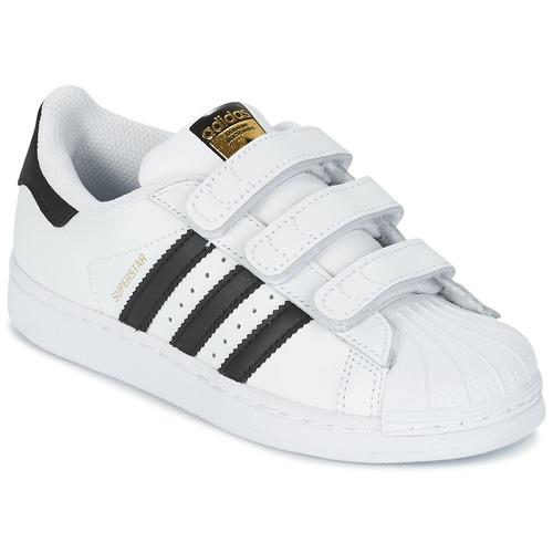 Obuća Djeca Niske tenisice adidas Originals SUPERSTAR FOUNDATIO Bijela / Crna