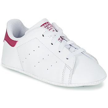 Obuća Djevojčica Niske tenisice adidas Originals STAN SMITH CRIB Bijela / Ružičasta