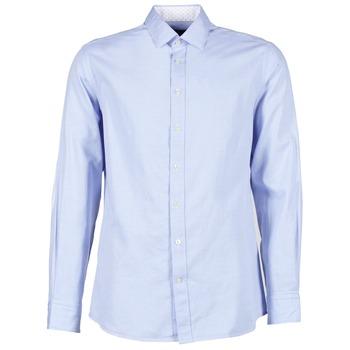 Odjeća Muškarci  Košulje dugih rukava Hackett SQUARE TEXT MUTLI Blue