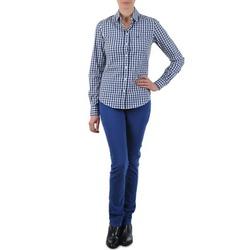 Odjeća Žene  Traperice ravnog kroja Gant N.Y. KATE COLORFUL TWILL PANT Blue