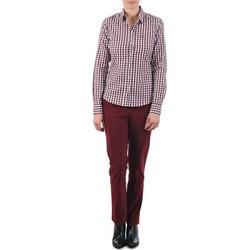 Odjeća Žene  Chino hlačei hlače mrkva kroja Gant C. COIN POCKET CHINO Bordó