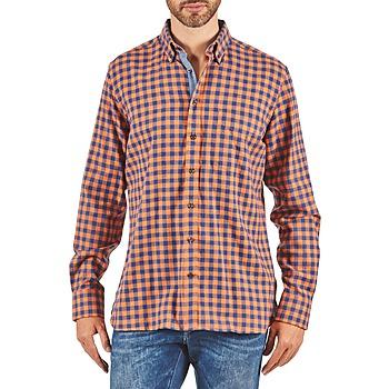 Odjeća Muškarci  Košulje dugih rukava Hackett SOFT BRIGHT CHECK Narančasta / Blue