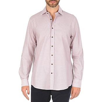 Odjeća Muškarci  Košulje dugih rukava Hackett MULTI MINI GRID CHECK Ružičasta