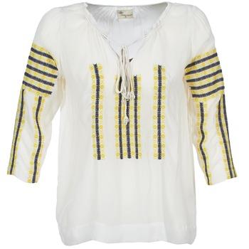 Odjeća Žene  Topovi i bluze Stella Forest ATU025 Bijela / Siva / Žuta