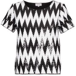 Odjeća Žene  Majice kratkih rukava American Retro GEGE Crna / Bijela
