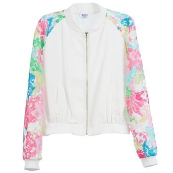 Odjeća Žene  Jakne Brigitte Bardot BB44045 Bijela / Multicolour