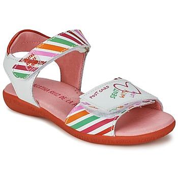 Obuća Djevojčica Sandale i polusandale Agatha Ruiz de la Prada CAZOLETA Bijela / Multicolour