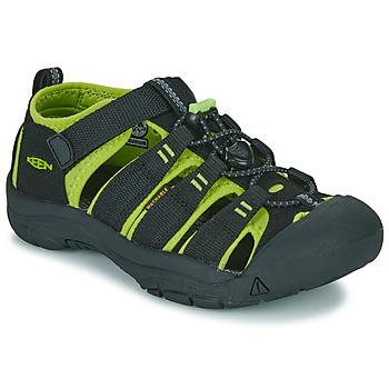 Obuća Djeca Sportske sandale Keen KIDS NEWPORT H2 Crna / Zelena