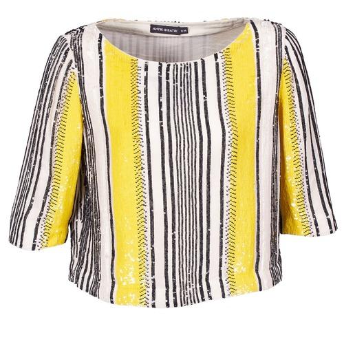 Odjeća Žene  Topovi i bluze Antik Batik ZABOU Žuta / Bijela / Crna