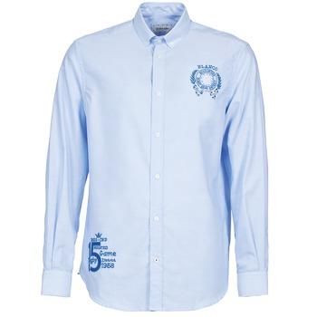 Odjeća Muškarci  Košulje dugih rukava Serge Blanco ANTONIO Blue