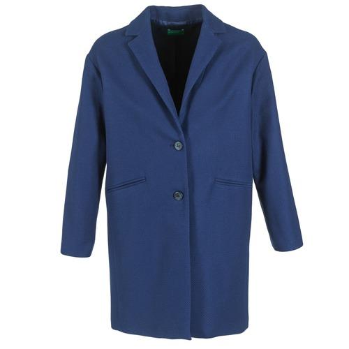 Odjeća Žene  Kaputi Benetton AGRETE Blue