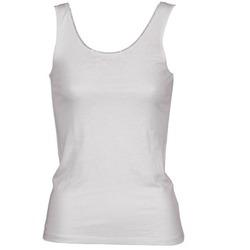 Odjeća Žene  Majice s naramenicama i majice bez rukava Majestic 701 Bijela