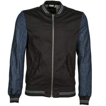 Odjeća Muškarci  Kratke jakne Sisley 2ID2533A9 Crna / Blue