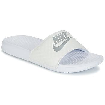 Obuća Žene  Sportske natikače Nike BENASSI JUST DO IT W Bijela / Srebrna